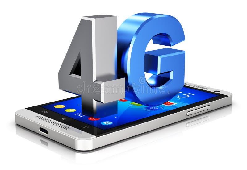 conceito da tecnologia sem fios de 4G LTE ilustração royalty free