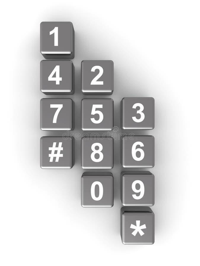 Conceito da telecomunicação ou do contato ilustração do vetor