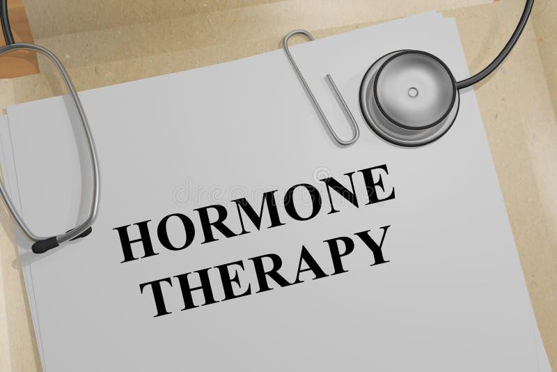 Conceito da terapia da hormona ilustração do vetor