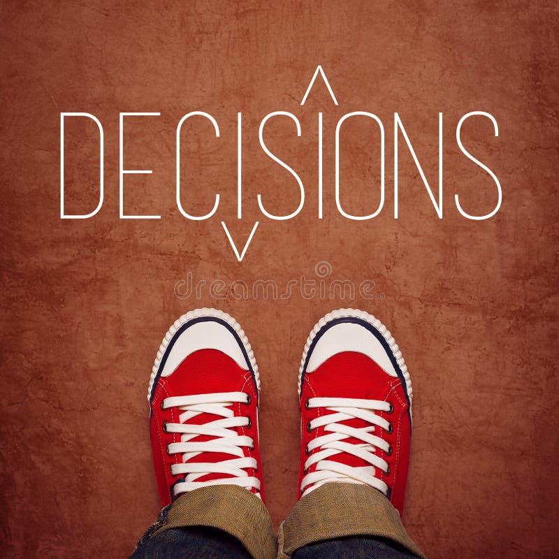 Conceito da tomada de decisão da juventude, vista superior foto de stock