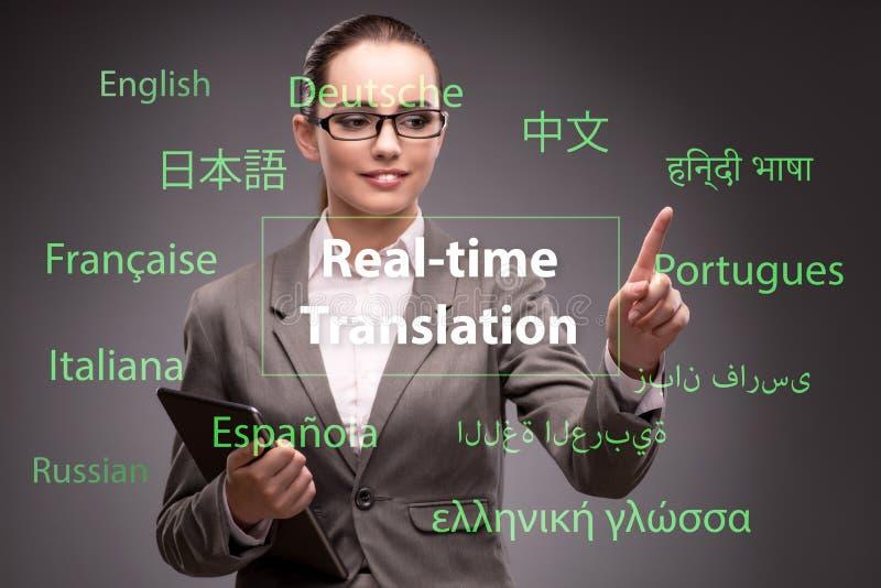 Conceito da tradução em linha da língua estrangeira fotos de stock royalty free