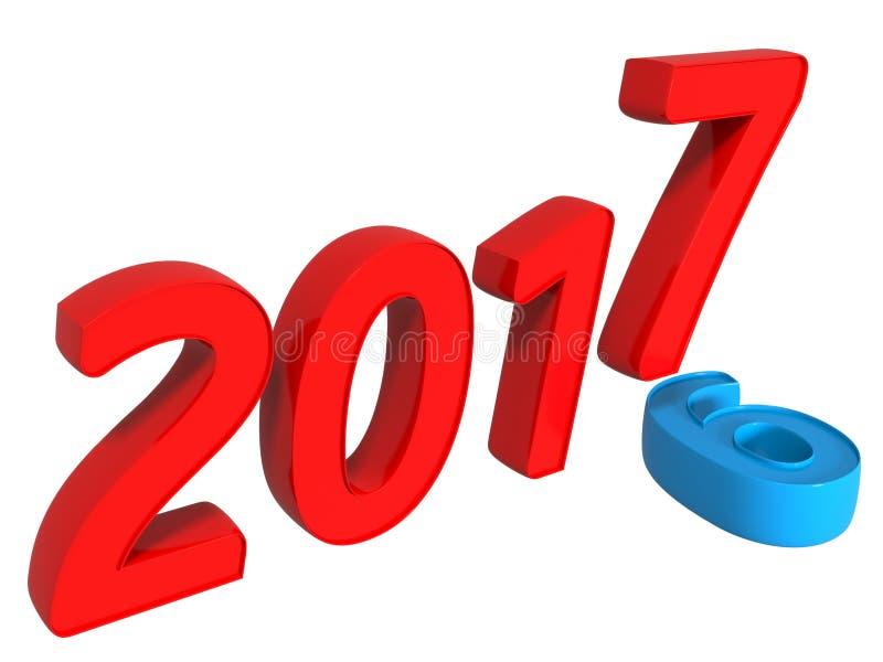 conceito 2016 a 2017 da transição ilustração do vetor