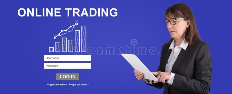 Conceito da troca em linha imagem de stock royalty free