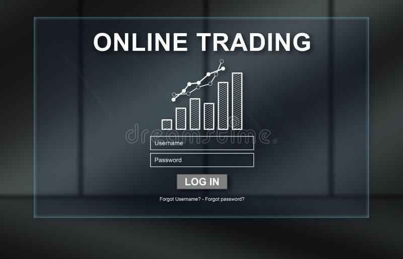Conceito da troca em linha fotos de stock
