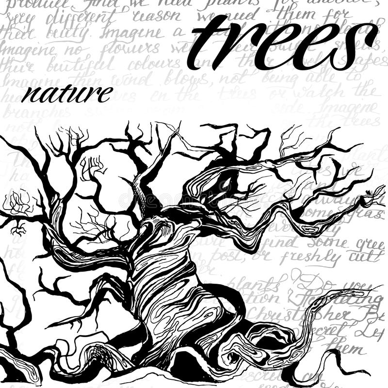 Conceito da tutela da natureza ilustração stock
