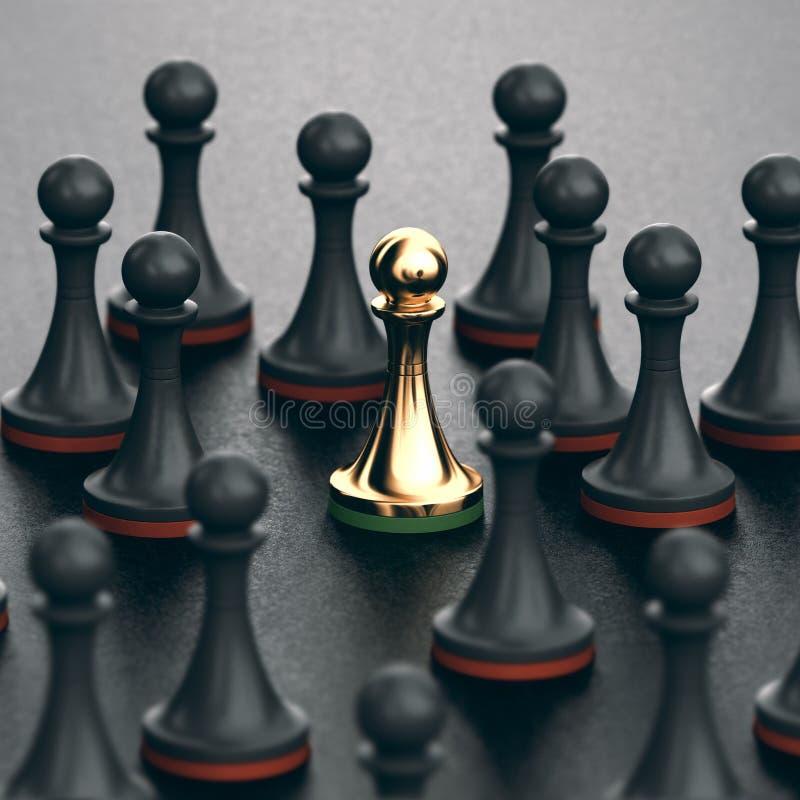 Conceito da unicidade e do talento ilustração royalty free