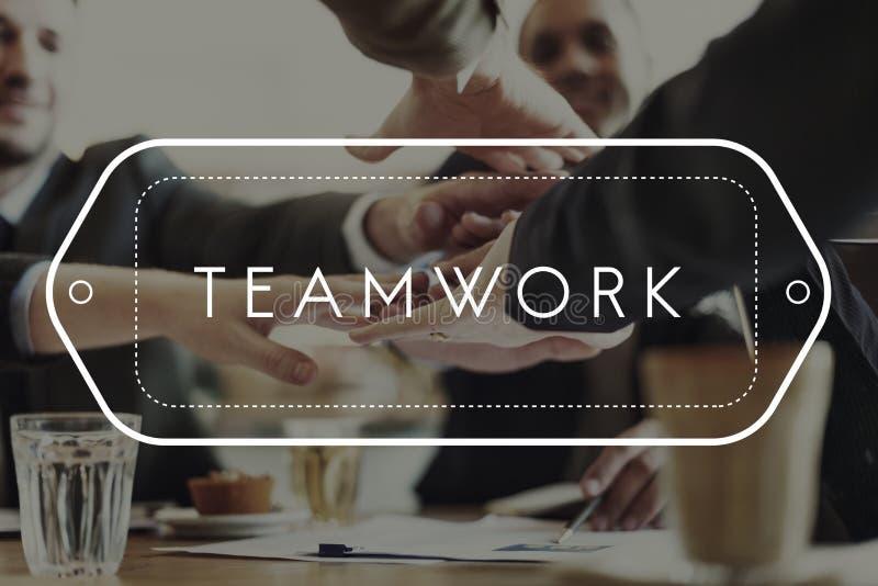 Conceito da unidade da cooperação de Dreamwork Alliance dos trabalhos de equipa fotografia de stock