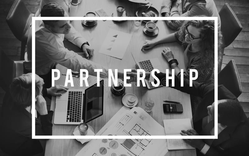 Conceito da unidade do relacionamento da associação de Alliance da parceria foto de stock royalty free