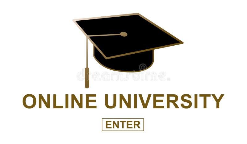Conceito da universidade em linha ilustração stock