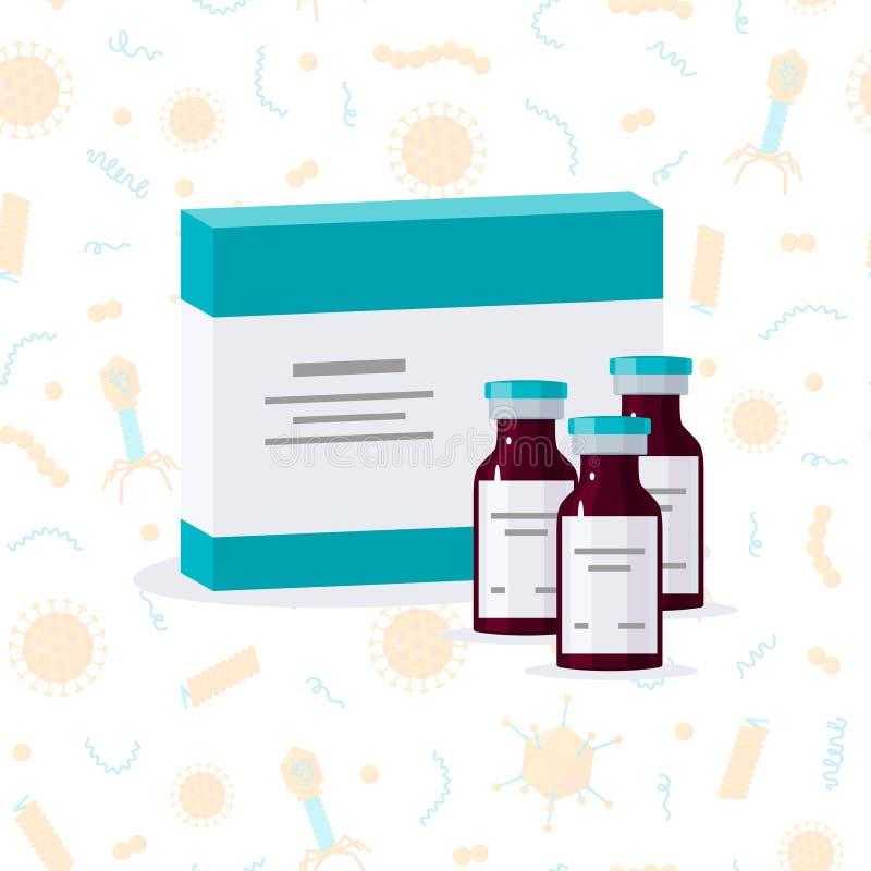 Conceito da vacinação, imagem do vetor no estilo liso ilustração do vetor