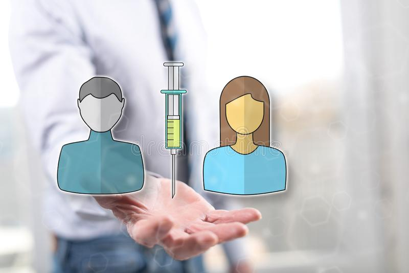 Conceito da vacina??o imagem de stock