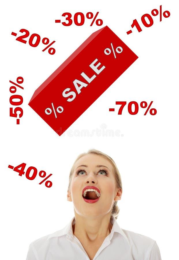Conceito da venda imagens de stock royalty free