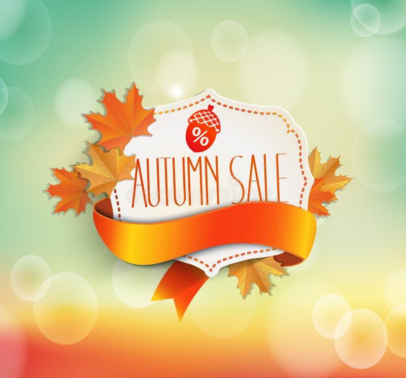 Conceito da venda do outono ilustração royalty free