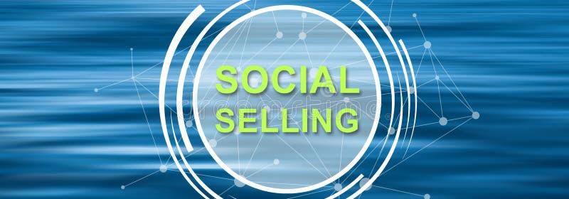 Conceito da venda social ilustração royalty free