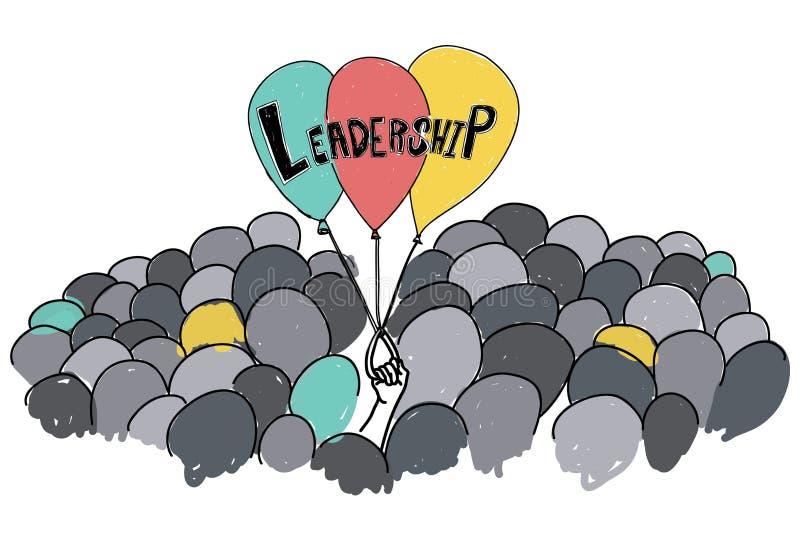 Conceito da visão da responsabilidade de gestão da ligação da liderança ilustração stock