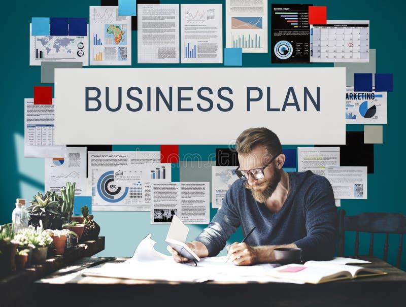 Conceito da visão do processo de planeamento do plano de negócios imagem de stock royalty free