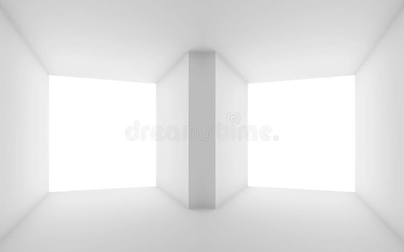 Conceito da visão estereofônica Interior abstrato 3d ilustração royalty free