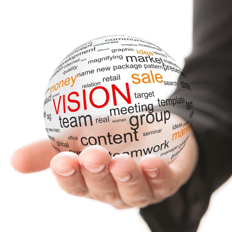 Conceito da visão no negócio imagens de stock
