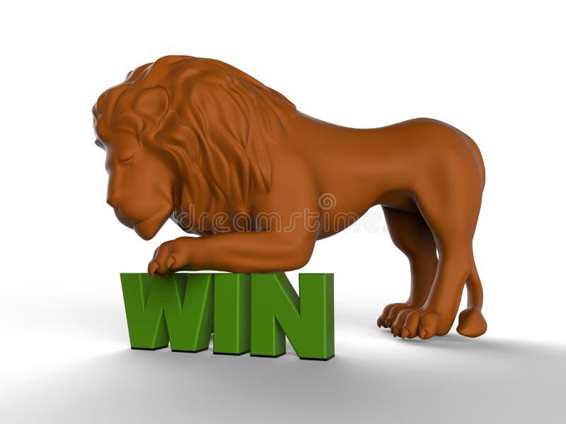 Conceito da vitória - leão ilustração royalty free