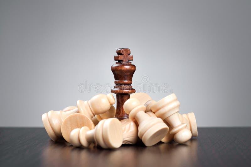 Conceito da xadrez da vitória fotos de stock royalty free