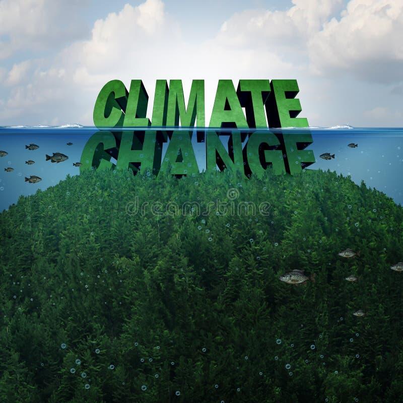 Conceito das alterações climáticas ilustração do vetor