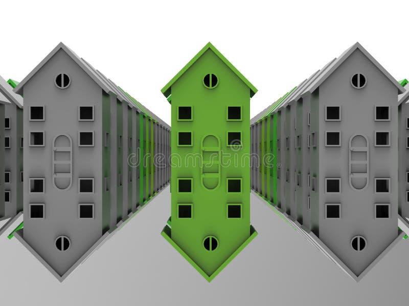 Conceito das casas mais verdes ilustração stock