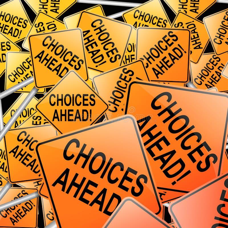 Conceito das escolhas. ilustração stock