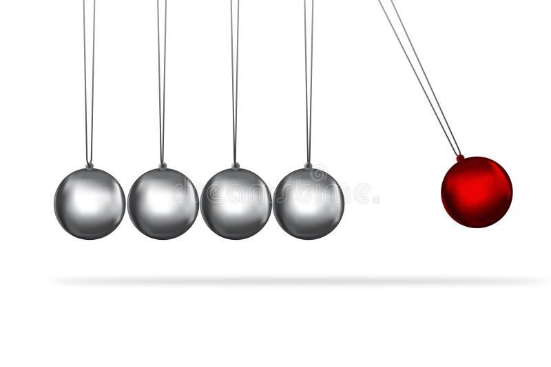 Conceito das esferas da prata do berço dos newtons ilustração royalty free