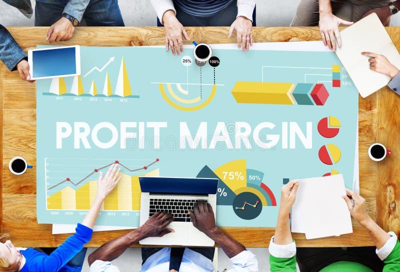 Conceito das estatísticas da analítica dos resultados do lucro de negócio fotografia de stock