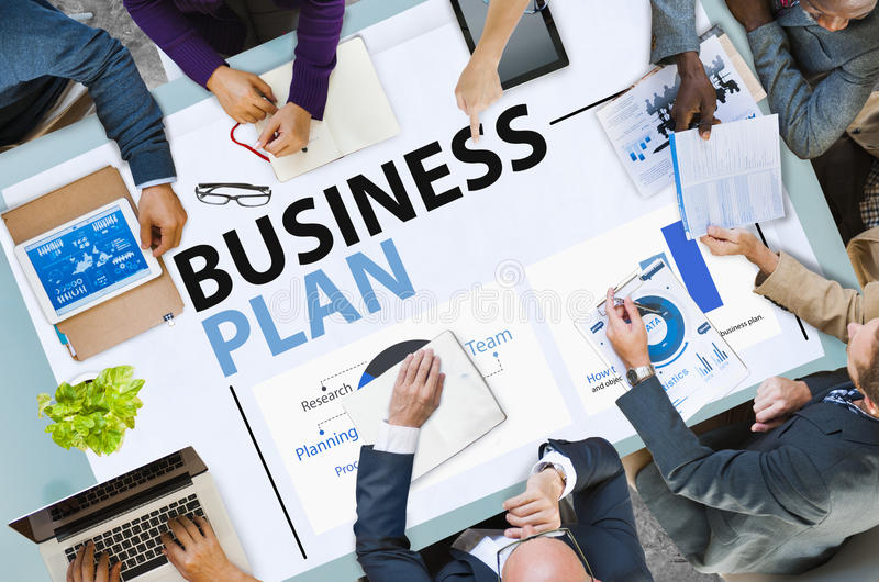 Conceito das estatísticas da informação do planeamento da estratégia do plano de negócios fotografia de stock royalty free