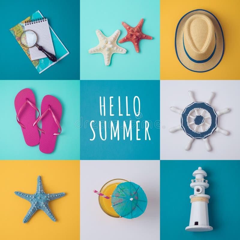 Conceito das férias de verão foto de stock