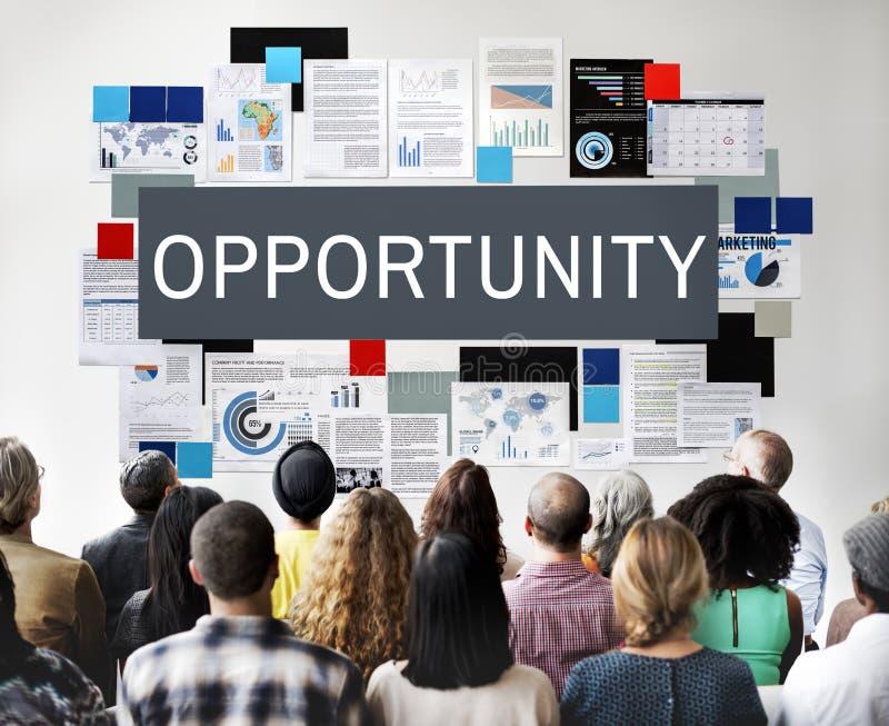 Conceito das finanças empresariais da carreira do negócio da oportunidade imagem de stock