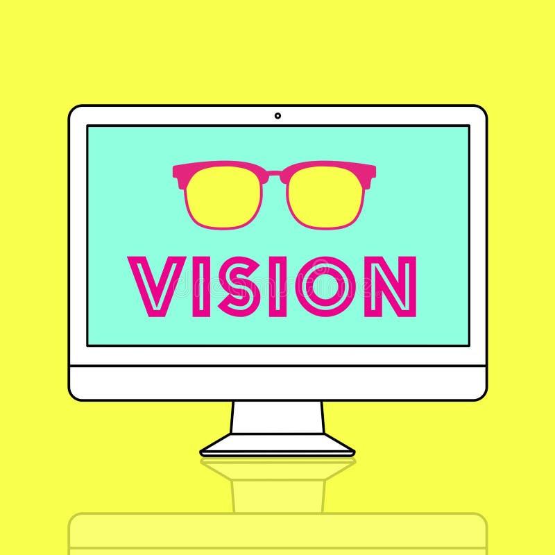 Conceito das ideias da aspiração do plano da visão ilustração royalty free