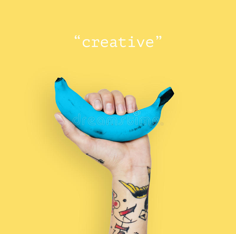 Conceito das ideias do pensamento criativo da faculdade criadora foto de stock