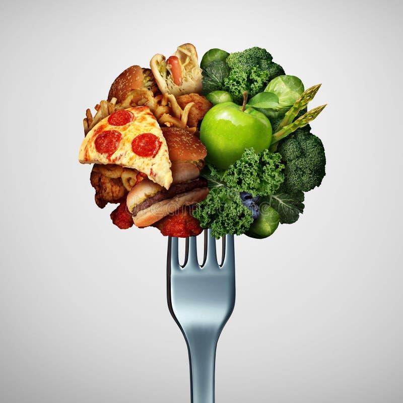 Conceito das opções da saúde do alimento ilustração royalty free