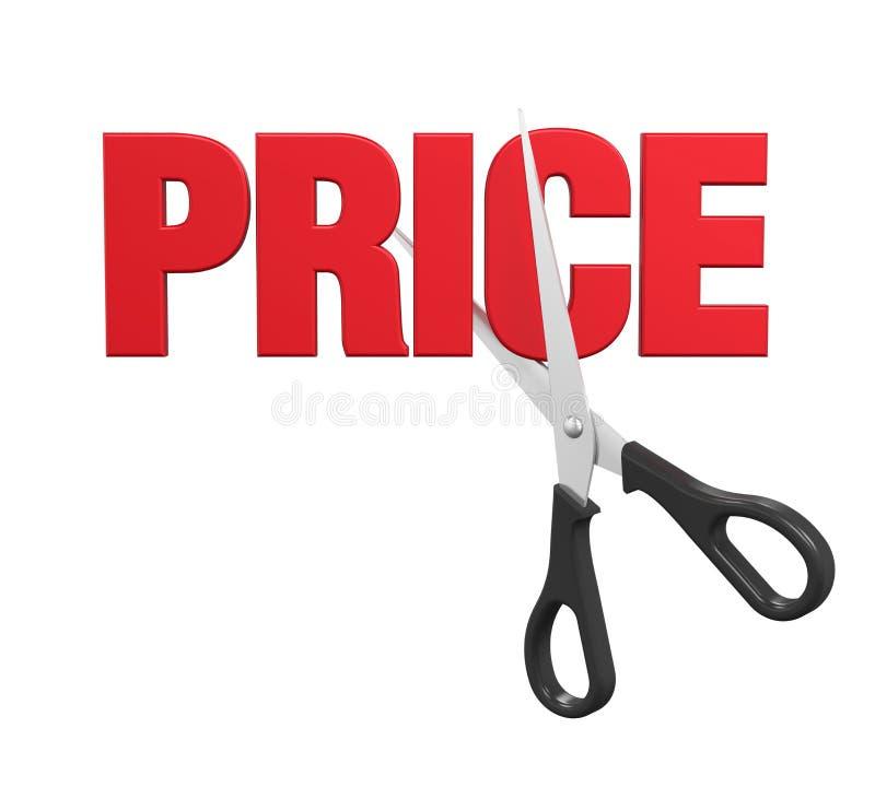 Conceito das reduções de preços ilustração royalty free