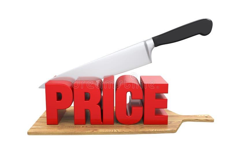 Conceito das reduções de preços ilustração stock