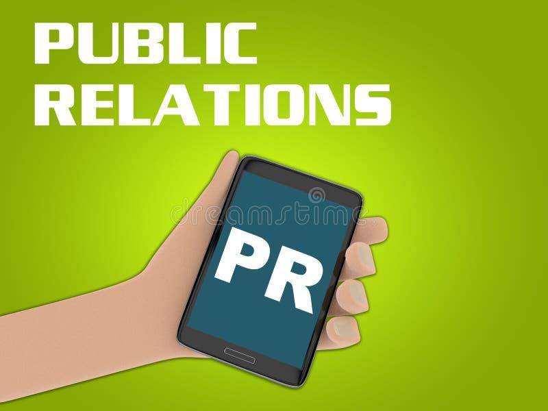 Conceito das relações públicas ilustração do vetor