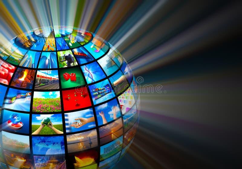 Conceito das tecnologias dos media ilustração do vetor