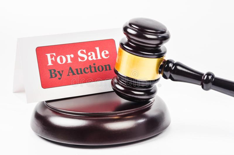 Conceito das vendas de leilão imagens de stock royalty free