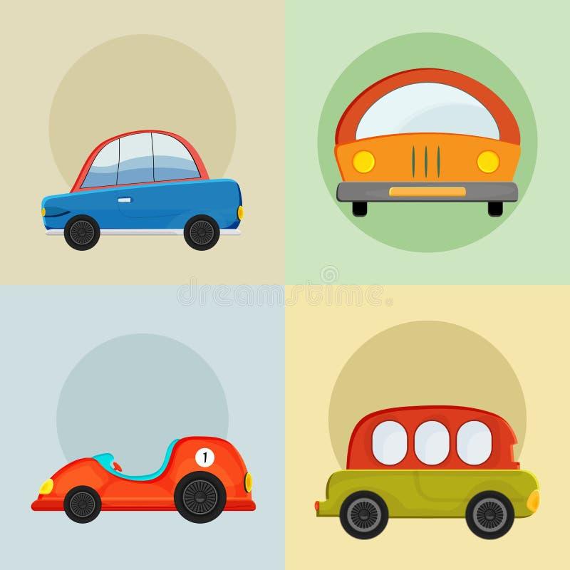 Conceito de ícones do carro ilustração royalty free