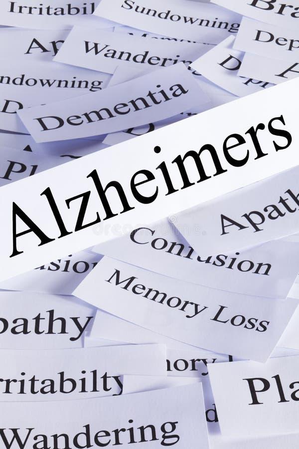 Conceito de Alzheimers imagens de stock