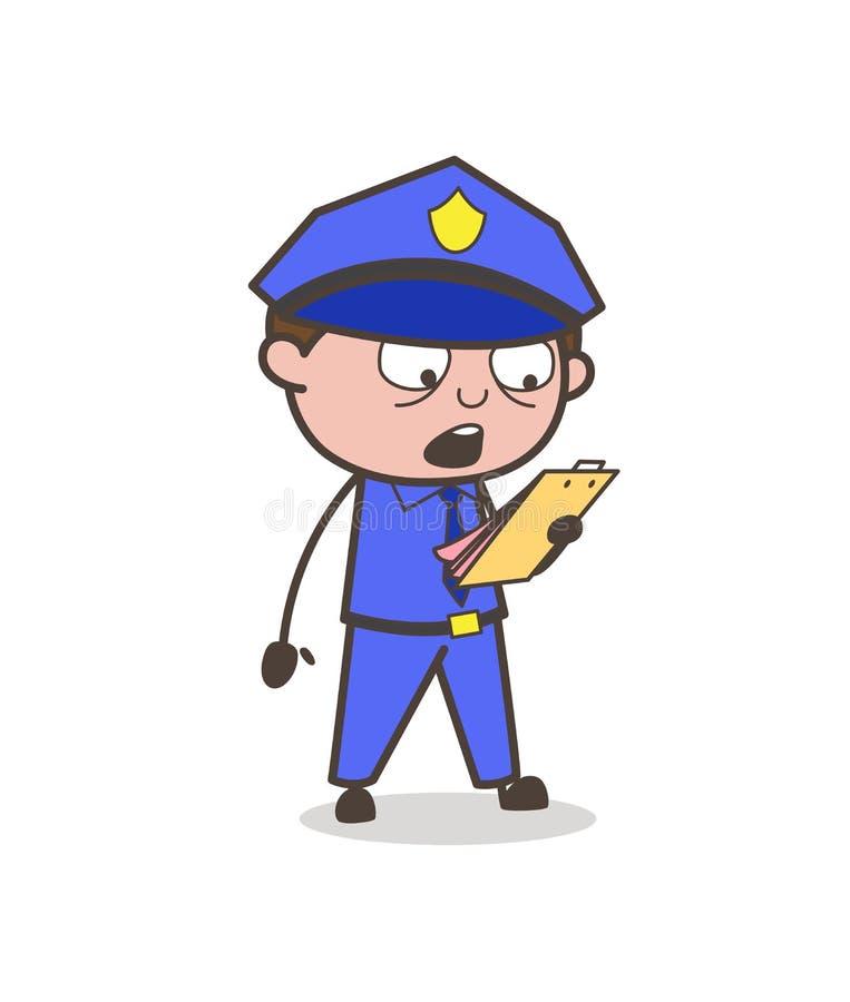 Conceito de Announcing Rules Vetora do oficial dos desenhos animados ilustração do vetor