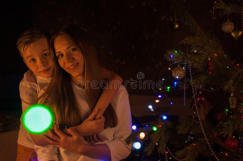 Conceito de ano novo, de Natal e de família fotografia de stock