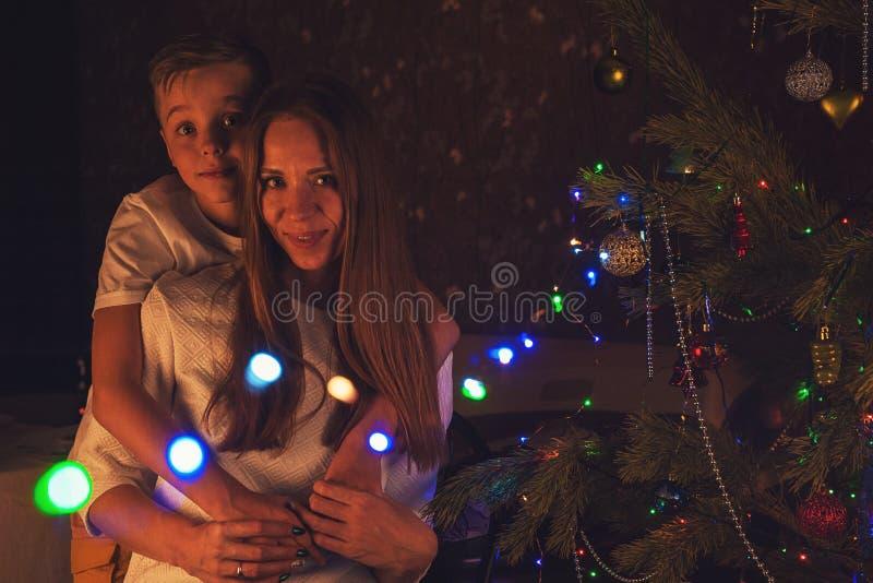 Conceito de ano novo, de Natal e de família imagem de stock royalty free