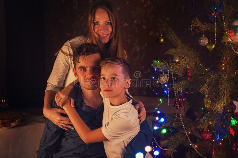 Conceito de ano novo, de Natal e de família foto de stock