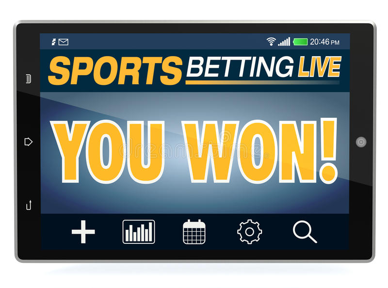Conceito de apostas em linha do esporte ilustração stock