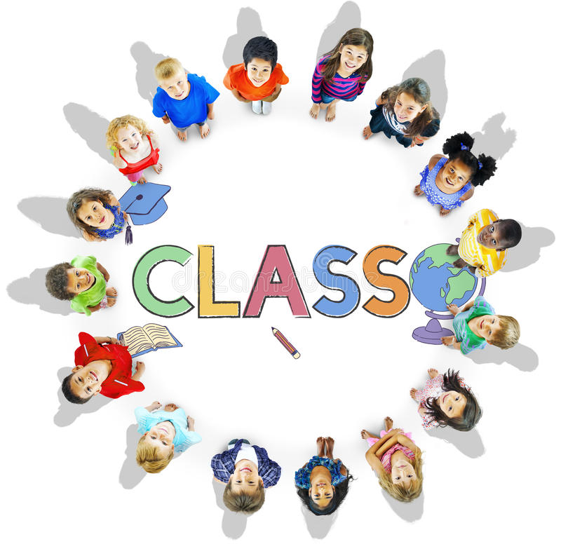 Conceito de aprendizagem acadêmico do gráfico das crianças da escola foto de stock royalty free