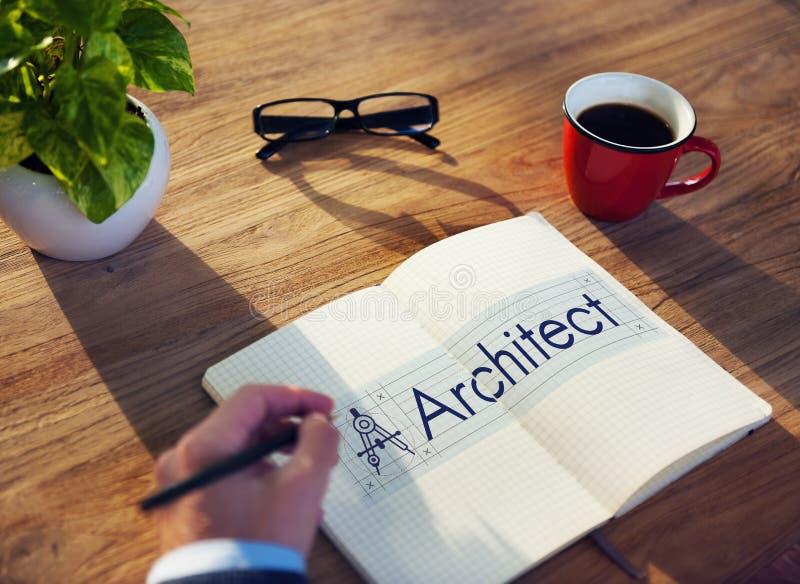 Conceito de Architecture Compass Construction do arquiteto imagem de stock