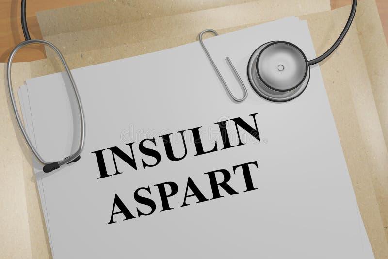 Conceito de Aspart da insulina ilustração do vetor